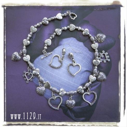 LLCUOR collana cuori fiori flowers and hearts necklace 1129