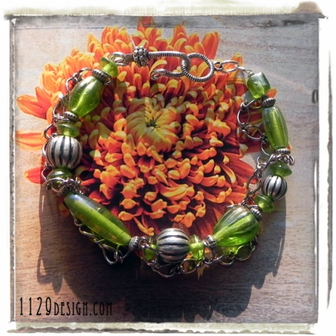 bracciale-verde-catena-1129design