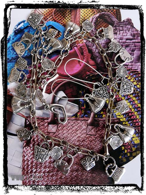 IDROBO collana charms borse borsette