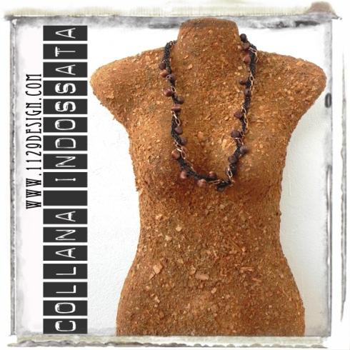 LMWIRA collana necklace 1129 indossata