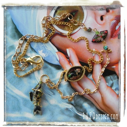 MBCLOIS-collana-pesce-cloisonne catena oro golden charin fish necklace 1129design