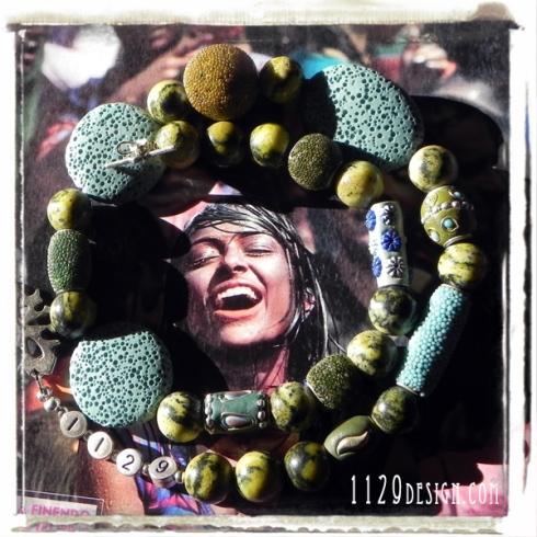 MAKALA-girocollo-pietra-lavica-azzurra-kashmir-kashmiri-new-ethno-necklace 52cm