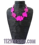 MBTURO collana agata turchese fucsia pink agate turquoise fan necklace indossata