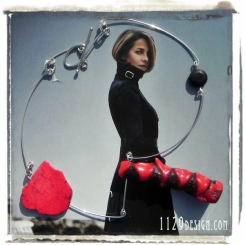 blomming-collana-argento-corallo-lava-red-coral-black-lava-rock-silver-necklace-1129design