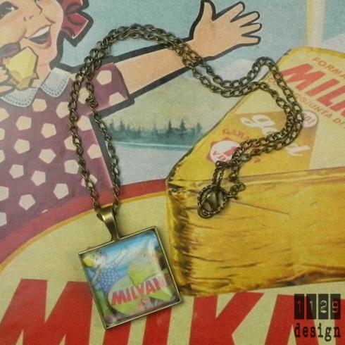 collana vintage pubblicità formaggino milkana 1962